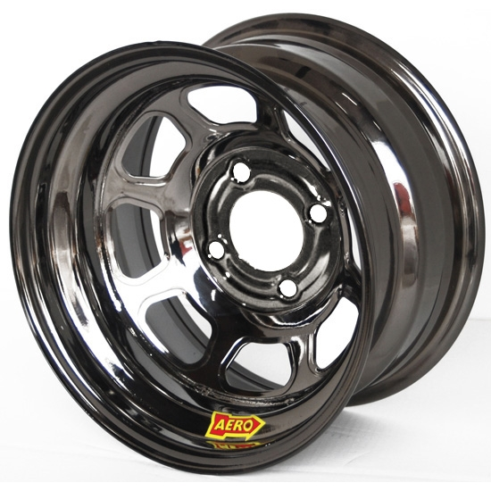 Aero 30-974010BLK 30 Series 13x7 Inch Wheel, 4 on 4 BP, 1 Inch BS