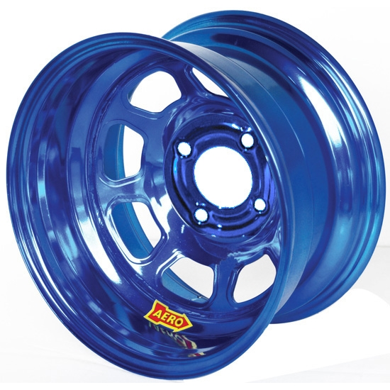 Aero 31-974010BLU 31 Series 13x7 Wheel, Spun Lite, 4 on 4 BP, 1 BS