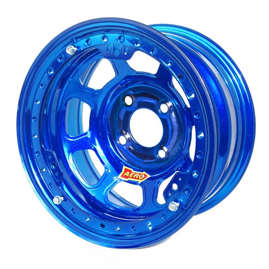 Aero 33-974010BLU 33 Series 13x7 Wheel, Lite, 4 on 4 BP, 1 Inch BS