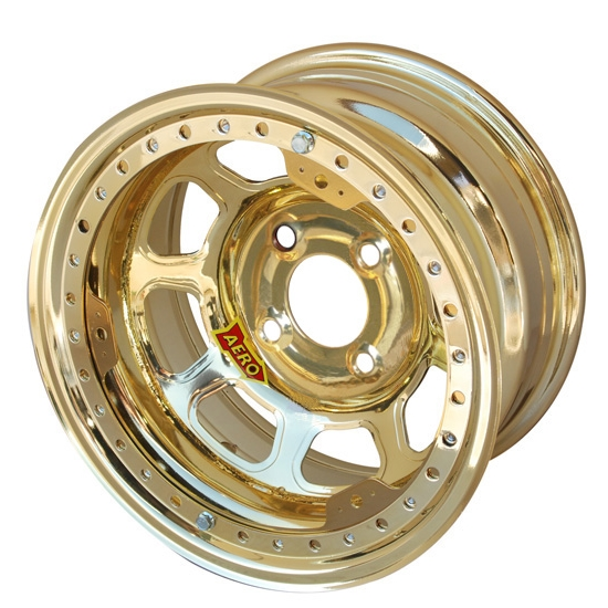 Aero 33-974030GOL 33 Series 13x7 Wheel, Lite, 4 on 4 BP, 3 Inch BS