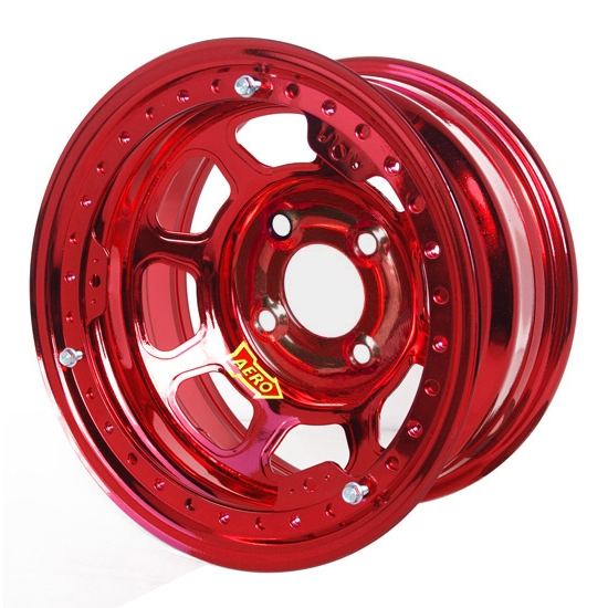 Aero 33-984010RED 33 Series 13x8 Wheel, Lite, 4 on 4 BP, 1 Inch BS