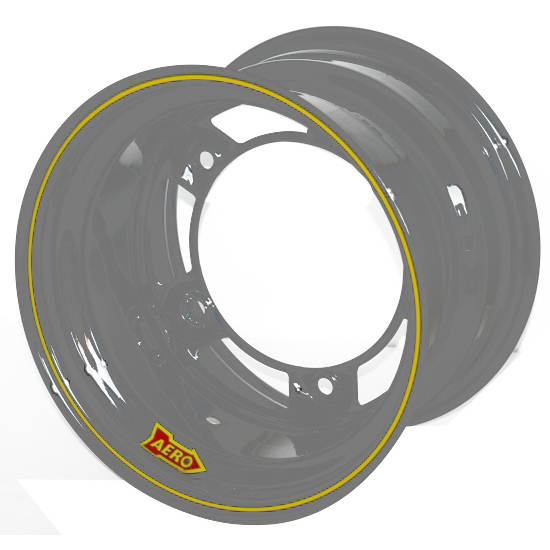 Aero 50-020530 50 Series 15x12 Inch Wheel, 5 on WIDE 5 BP, 3 Inch BS