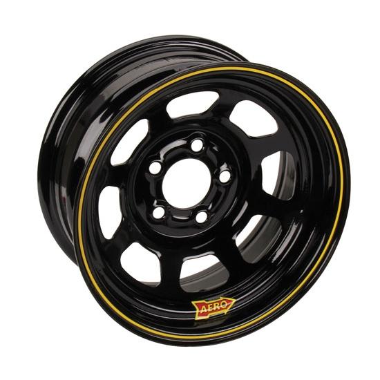 Black 50-Series 5x4.5 Steel 15x8-4in BS Aero Race Wheels
