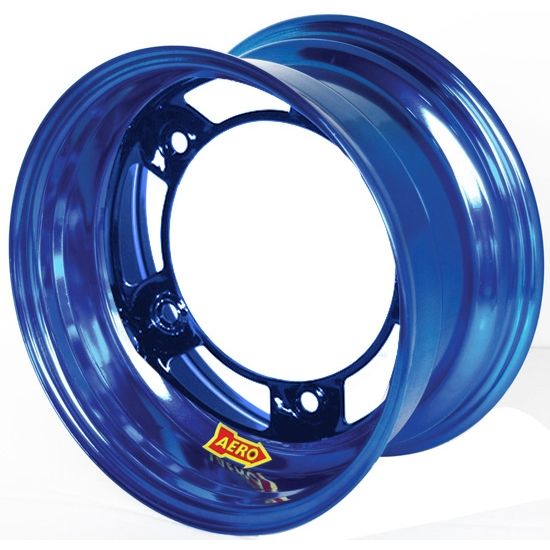 Aero 50-920540BLU 50 Series 15x12 Wheel, 5 on WIDE 5 BP, 4 Inch BS