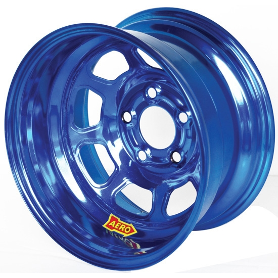 Aero 50-924530BLU 50 Series 15x12 Wheel, 5x4.5 BP, 3 Inch BS