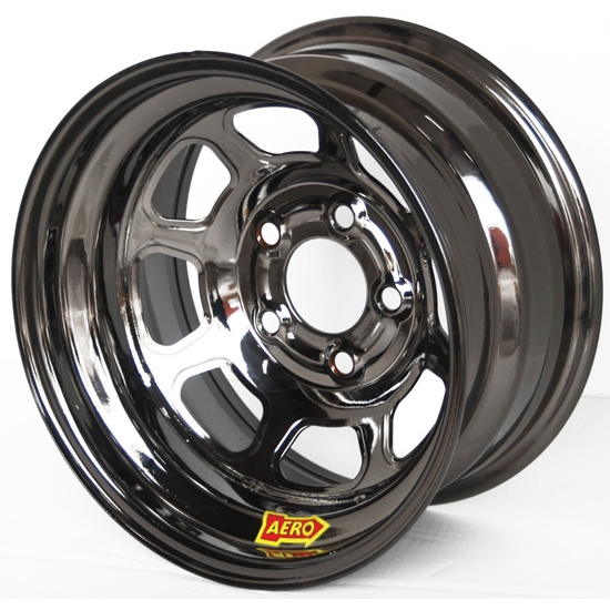 Aero 50-924740BLK 50 Series 15x12 Wheel, 5 on 4-3/4 BP, 4 Inch BS