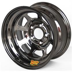 Aero 50-984740BLK 50 Series 15x8 Inch Wheel, 5 on 4-3/4 BP 4 Inch BS