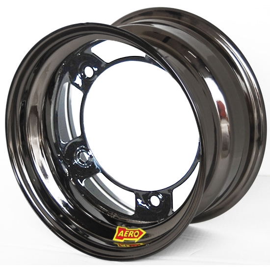 Aero 51-900530BLK 51 Series 15x10 Wheel, Spun 5 on WIDE 5, 3 Inch BS