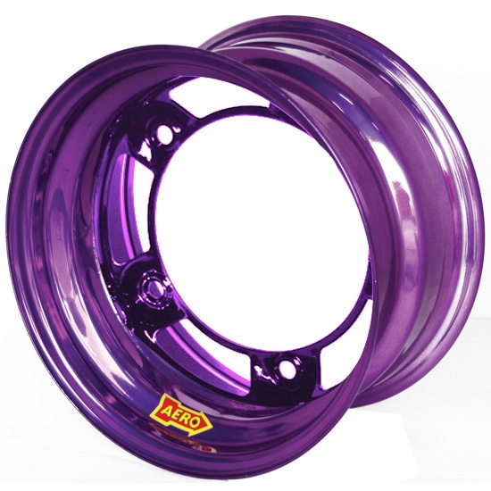 Aero 51-900540PUR 51 Series 15x10 Wheel, Spun 5 on WIDE 5, 4 Inch BS
