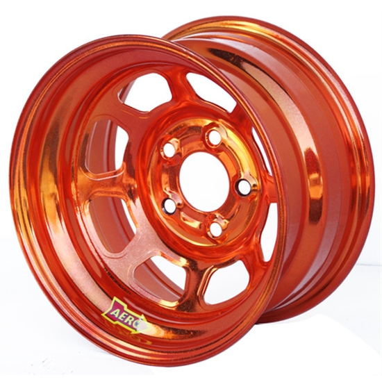Aero 51-905020ORG 51 Series 15x10 Wheel, Spun 5 on 5 Inch, 2 Inch BS
