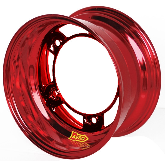 Aero 51-980530RED 51 Series 15x8 Wheel, Spun, 5 on WIDE 5, 3 Inch BS