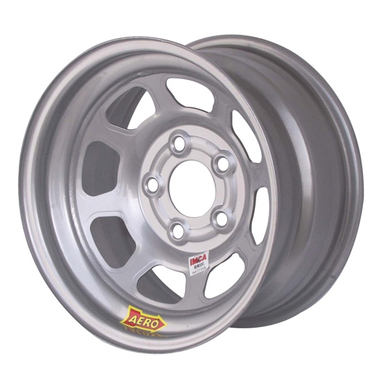 Aero 52-085020L 52 Series 15x8 Inch Wheel, 5 on 5 BP, 2 Inch BS IMCA L