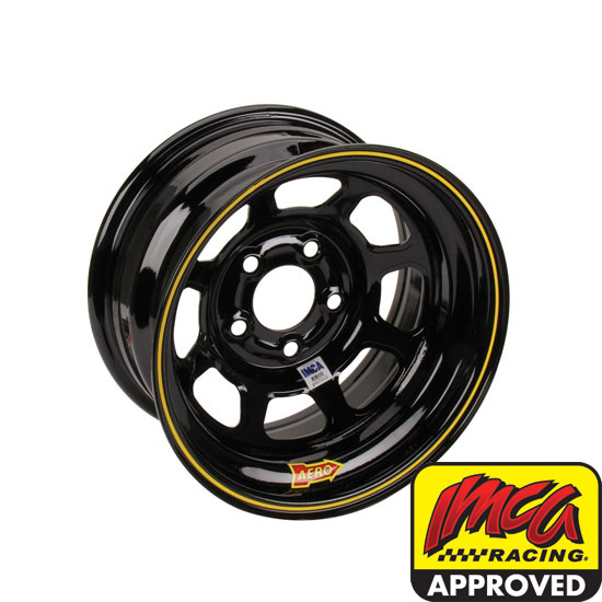 AERO 52 Series IMCA Certified 15 Inch Race Wheel, 5 on 5 Bolt Pattern