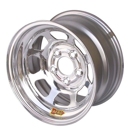 Aero 52-284540W 52 Series 15x8 Wheel, 5 on 4-1/2 BP, 4 Inch BS Wissota