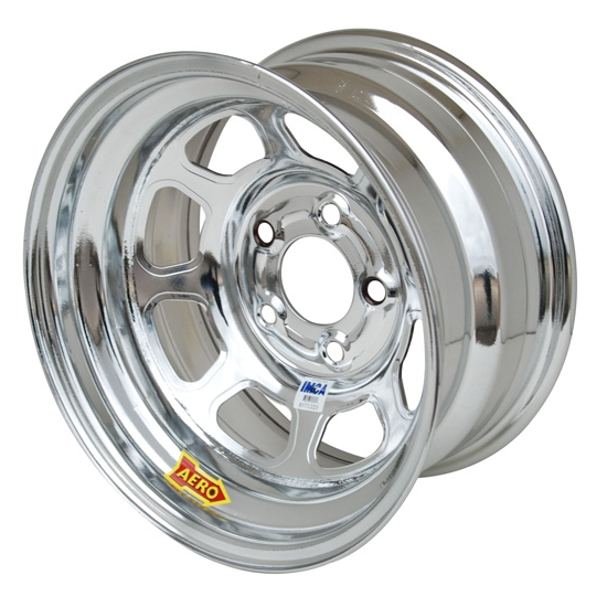 Aero 52-284540 52 Series 15x8 Wheel, 5x4.5 BP, 4 Inch BS IMCA