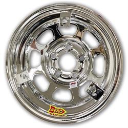Aero 52 Series 3-Tab 15 Inch Race Wheel, IMCA, 5 on 4-1/2 BP