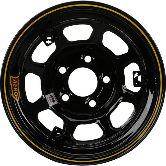 Aero 52 Series 3-Tab 15 Inch Race Wheel, IMCA, 5 on 4-3/4 BP