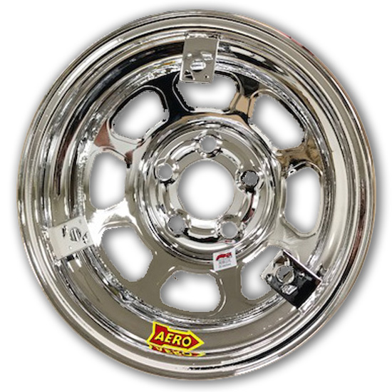 Aero 52 Series 3-Tab 15 Inch Race Wheel, IMCA, 5 on 5 Inch BP