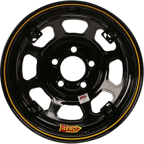 Aero 52 Series 4-Tab 15 Inch Race Wheel, IMCA, 5 on 4-3/4 BP