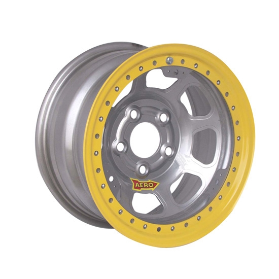 Aero 53-025030 53 Series 15x12 Inch Wheel, BL, 5 on 5 BP, 3 Inch BS