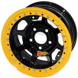 Aero 53-105030 53 Series 15x10 Inch Wheel, BL, 5 on 5 BP, 3 Inch BS