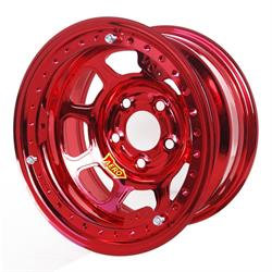 Aero 53-904560RED 53 Series 15x10 Wheel, BL, 5x4.5 BP, 6 Inch BS
