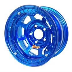 "Aero 53-905060BLU 53 Series 15x10 Wheel, BLock, 5x5 BP, 6"" BS"