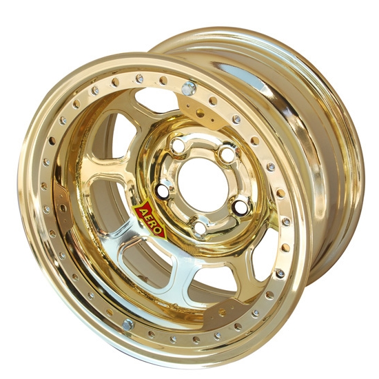 Aero 53-974735GOL 53 Series 15x7 Wheel, BLock, 5 on 4-3/4, 3-1/2 BS