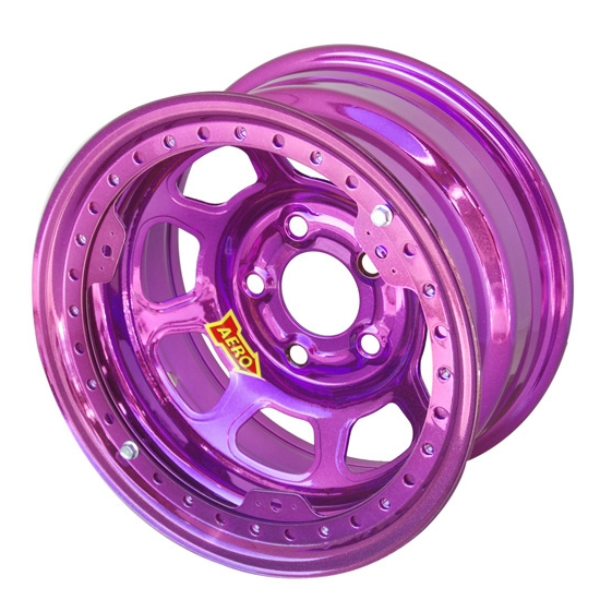 Aero 53-975030PUR 53 Series 15x7 Wheel, BLock, 5 on 5 BP, 3 Inch BS