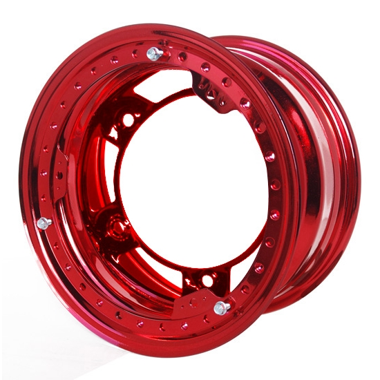 Aero 53-980550RED 53 Series 15x8 Wheel, BL, 5 on WIDE 5 BP, 5 BS, IMCA