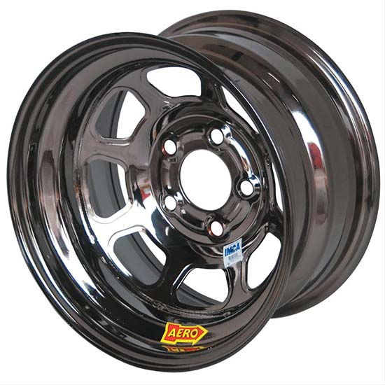 Aero 53985010WBLK 53 Series 15x8 Wheel, BL, 5 on 5, 1 Inch BS Wissota