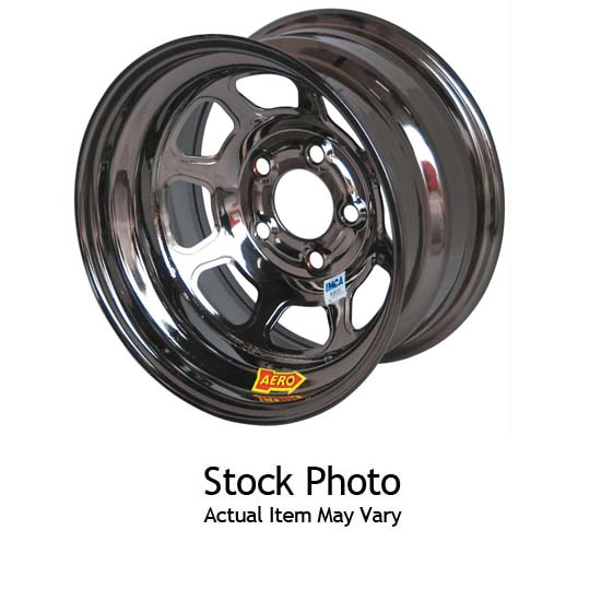 Aero Race Wheels 53-985030BLK Roll-Formed Bedlock Wheel, Black Chrome