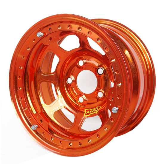 Aero 53985040WORG 53 Series 15x8 Wheel, BL, 5 on 5, 4 Inch BS Wissota