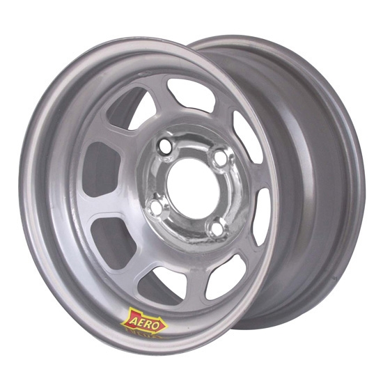 Aero 55-084230 55 Series 15x8 Wheel, 4-lug, 4 on 4-1/4 BP, 3 Inch BS
