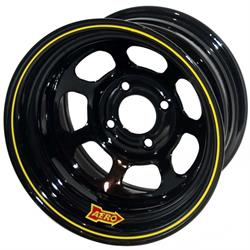 Aero 55-174035 55 Series 15x7 Inch Wheel, 4-lug, 4 on 4 BP, 3-1/2 BS