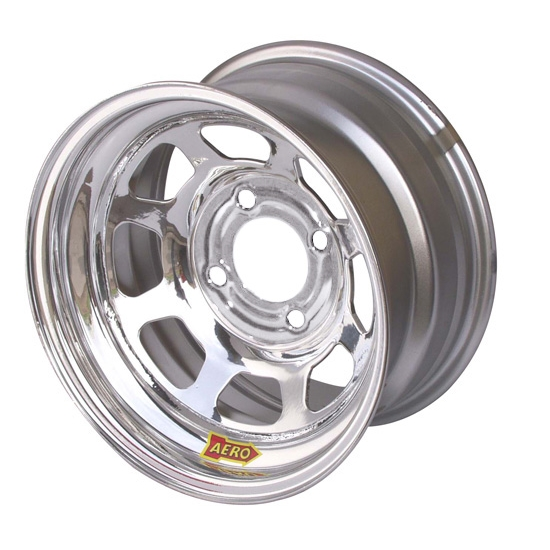 Aero 55-274030 55 Series 15x7 Inch Wheel, 4-lug, 4 on 4 BP, 3 Inch BS