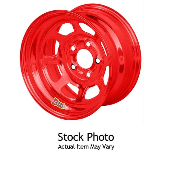 Aero 55-984520RED 15 x 8 55 Series Wheel, 4 on 4.5, RedChrome