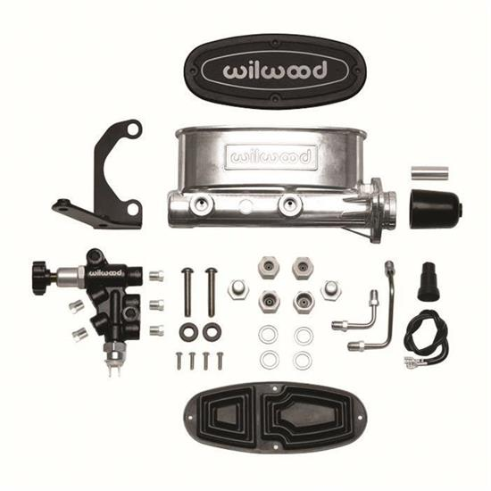 Wilwood 261-13270 Aluminum Tandem Master Cylinder Kit with Bracket and Valve