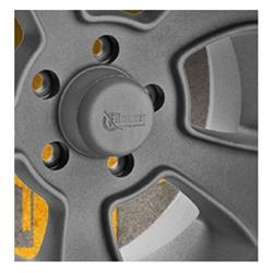 Rocket Racing Wheels RCM-01701 Rocket Center Cap, Cast