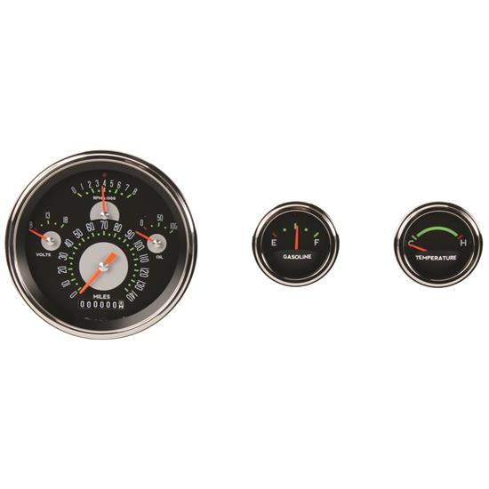 Classic Instruments CH01ASLF 57 Chevy Gauge Set, Authentic Face Design