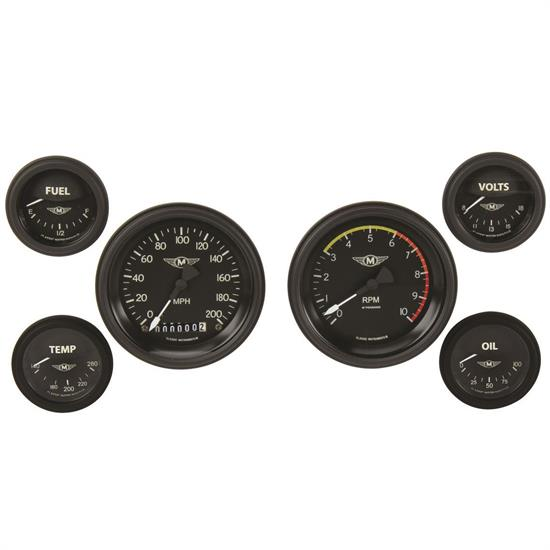Classic Instruments MA01BLF Moal Bomber Series Gauge Set