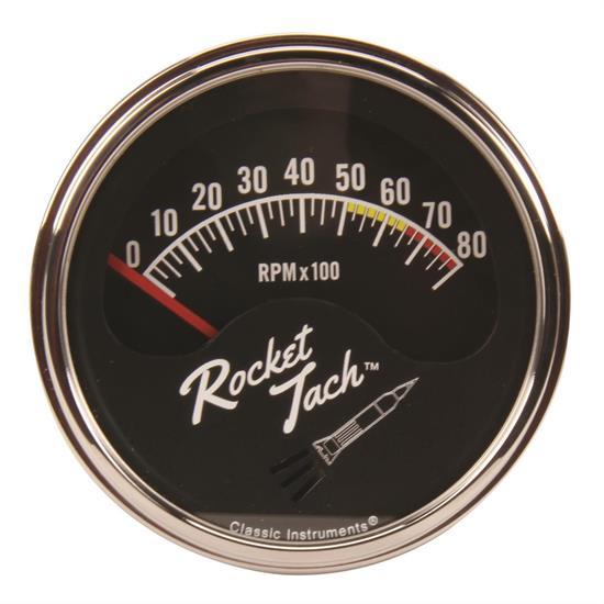 Classic Instruments Rt80slf Rocket Tachometer  3 8 Inch