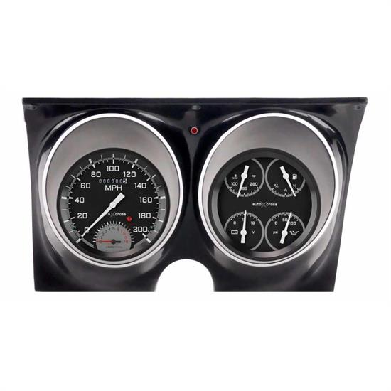 Classic Instruments CAM67AXG Auto Cross Gray Gauge Set, 1967-68 Camaro