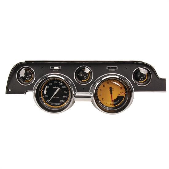 Classic Instruments MU67AXY Auto Cross Yellow Gauge Set, 1967-68 Mustang