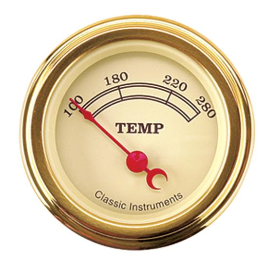 Classic Instruments VT26GLF Vintage Water Temperature Gauge