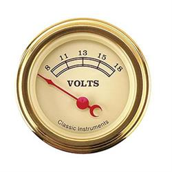 Classic Instruments VT30GLF Vintage Battery Voltage Gauge