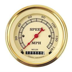 Classic Instruments VT55GLF Vintage 140 MPH Speedometer