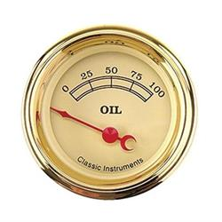 Classic Instruments VT81GLF Vintage Oil Pressure Gauge