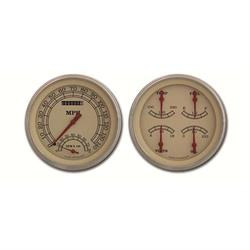 Classic Instruments CT47VT62 Pickup Gauge Sets, 47-53 GM Beige