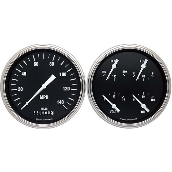 Classic Instruments CT47HR52 Hot Rod Pickup Gauge Sets, 47-53 GM